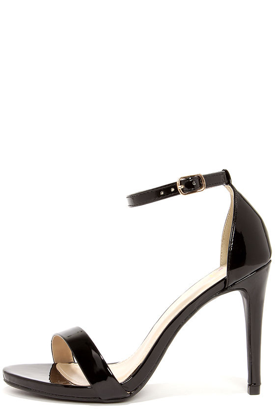 black ankle strap heels cute black heels - ankle strap heels - single strap heels - $24.00 ZBYPYCB