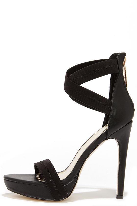 black ankle strap heels sexy black heels - ankle strap heels - platform heels - $38.00 IDKWMTH