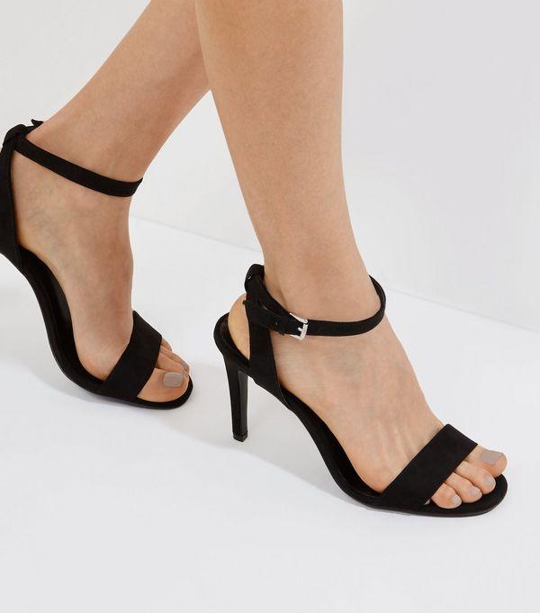 black ankle strap heels zoom EXSAWLR