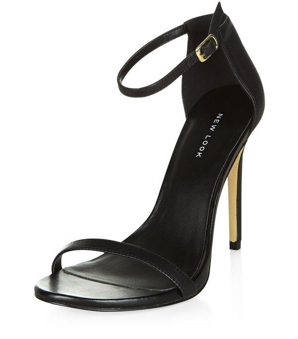 black ankle strap heels zoom NMYMLAK