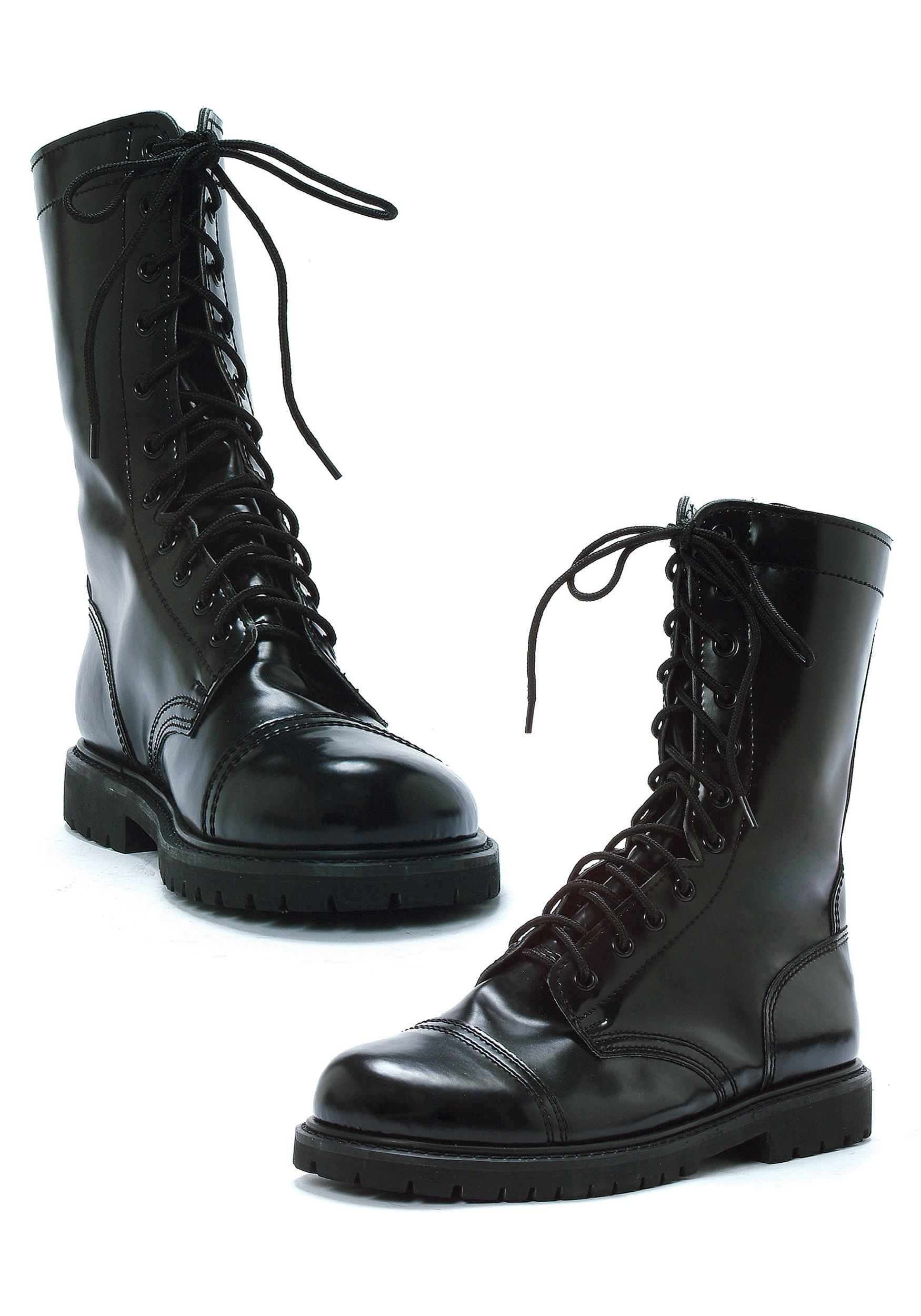 black boots adult black combat boots BFXVNML