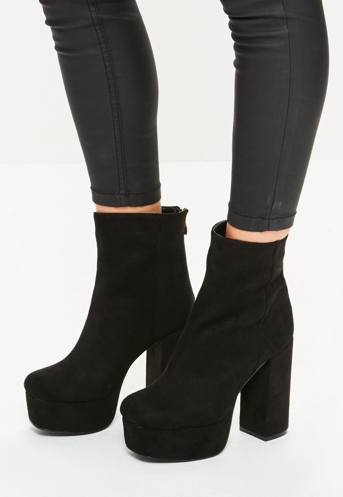 black boots black super platform ankle boots. previous next YJCDEMR
