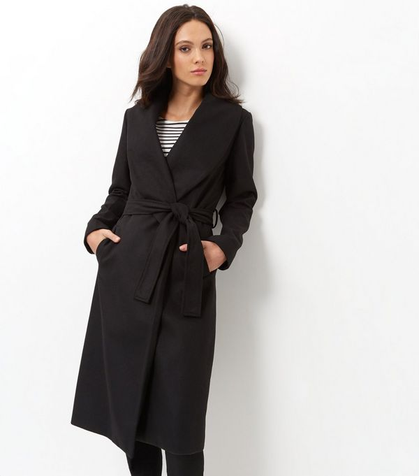 Black coat for this winter