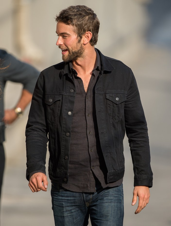black denim jacket chace crawford STPASVG