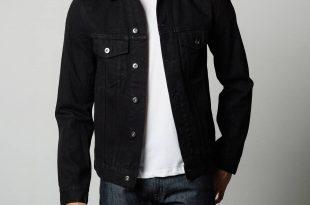 black denim jacket mens denim jacket in jet black SRJWIEB