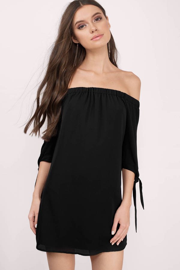black dress little black dresses, black, jeanie off shoulder shift dress, ... PANFGDE