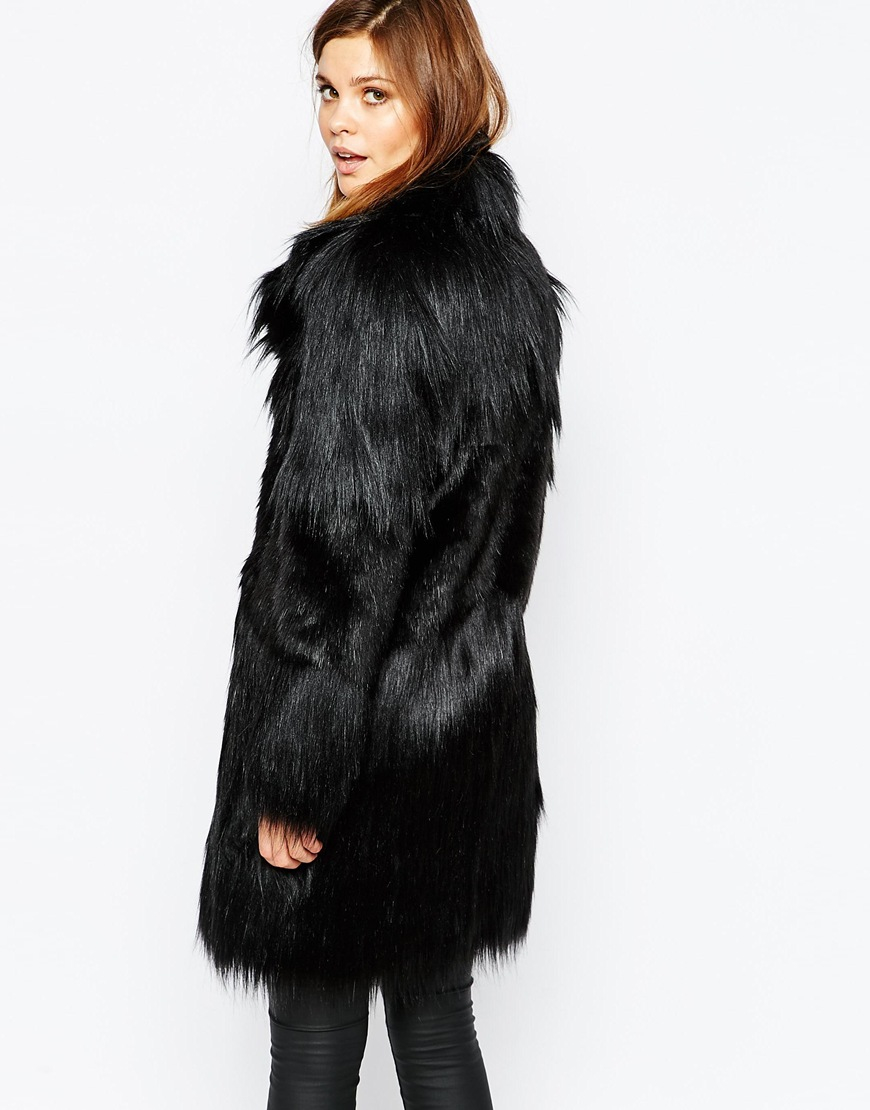 The black fur coat and the coat of your choice