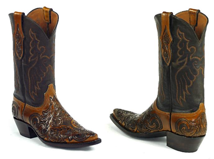 black jack menu0027s handtooled charlie stitch custom boots ht-186 UPLZEFP