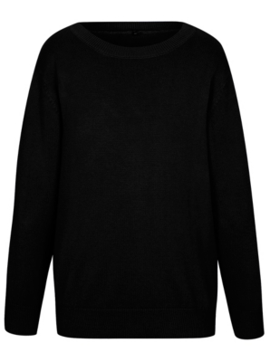 black jumper school crew neck jumper - black YQXDVTY