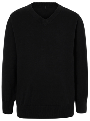 black jumper school v-neck jumper - black MCEYGRD