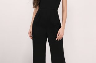 Black Jumpsuits katrina black crepe jumpsuit KNFRKYC