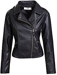 black leather jacket artfasion womenu0027s slim tailoring faux leather pu short jacket coat HQWUMPV
