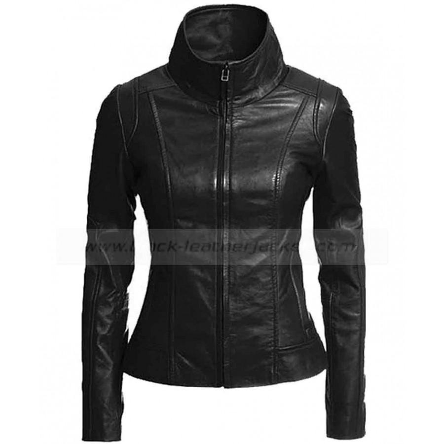 black leather jacket womens black lambskin leather motorcycle jacket ASYIFWI