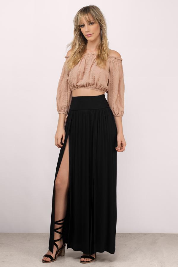 black maxi skirt final sale GJPXOCN