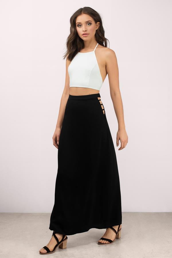 black maxi skirt final sale HUKGTQY
