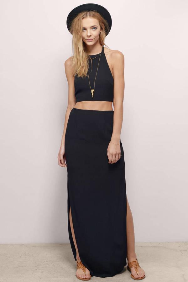 black maxi skirt final sale IAQPKHF