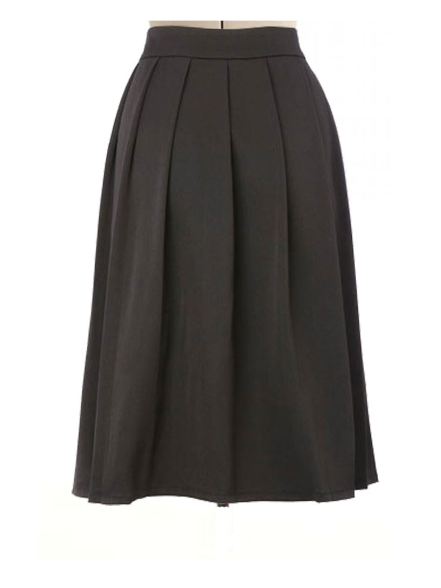 black pleated skirt pleated skirt, custom made, custom fit RLBXMRZ