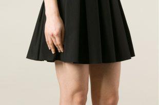 black pleated skirt red valentino pleated skirt in black lyst LXEWWVU