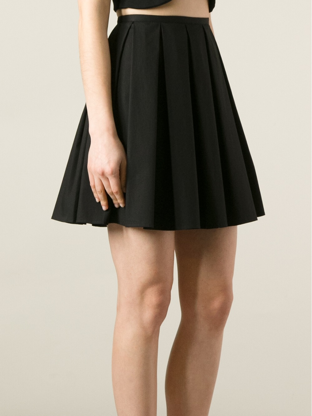 black pleated skirt red valentino pleated skirt in black lyst LXEWWVU