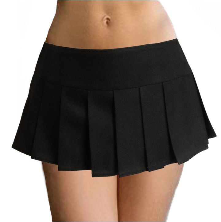 black pleated skirt WMBYZHJ