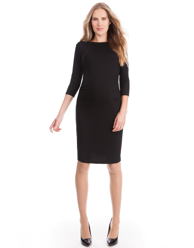 black shift dress black maternity shift dress ISPLYFE