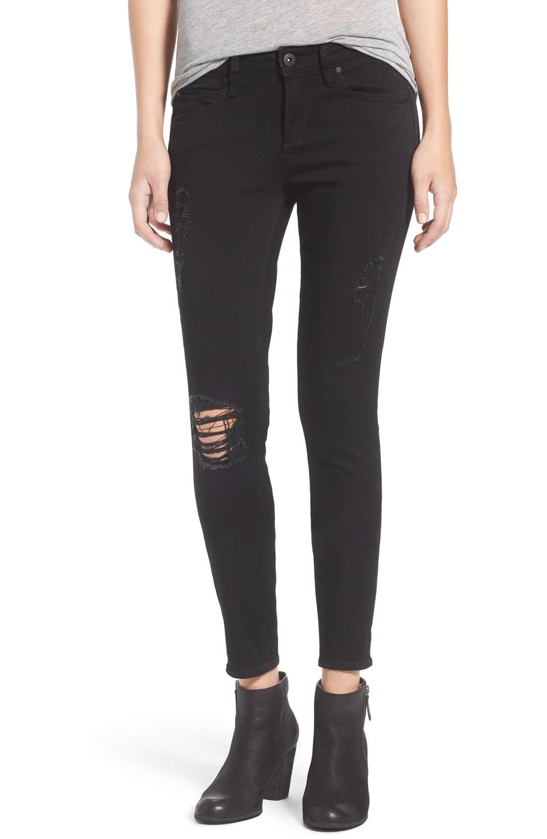 black skinny jeans articles of society u0027sarahu0027 skinny jeans (black cast) | nordstrom GIPDYQY