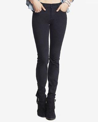 black skinny jeans black mid rise stretch skinny jeans | express MXJHLWT