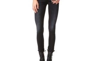black skinny jeans frame le skinny de jeanne ripped jeans   rank u0026 style HAWDWBB