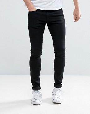 black skinny jeans pullu0026bear super skinny jeans in black TDLJNVS