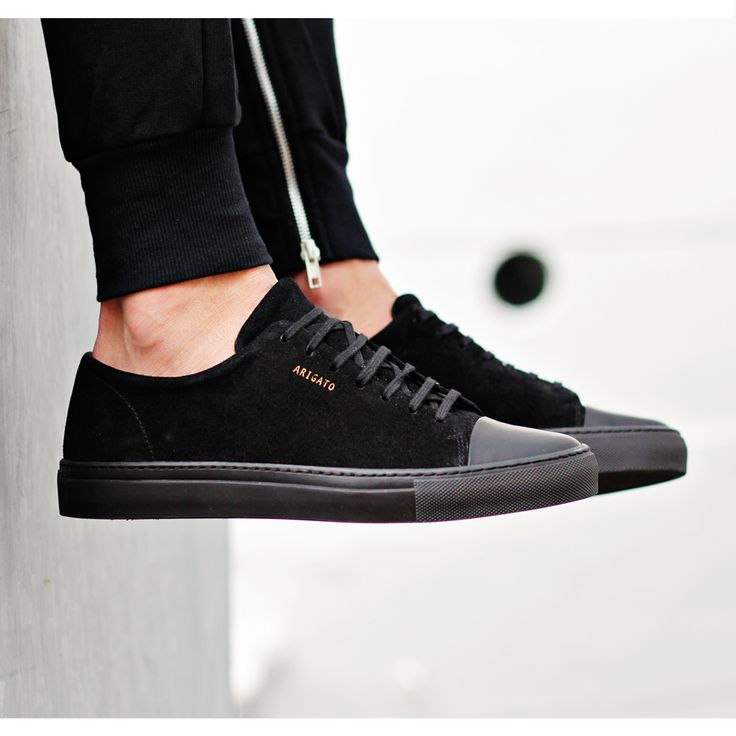 Exchange your customary running sneakers for black sneakers