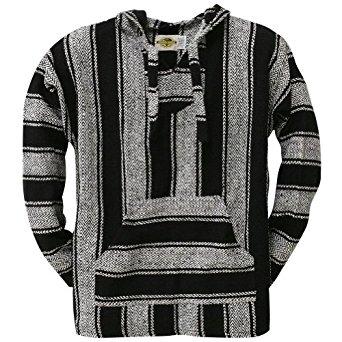 black stripe woven baja hoodie RFNHSAC