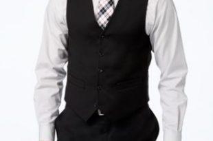 black vest tommy hilfiger black solid classic-fit vest LGXCUHY