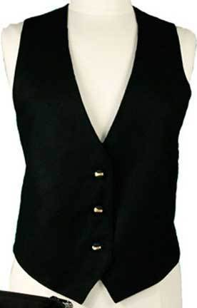 black vest womens black wool business vest AWXEYIN