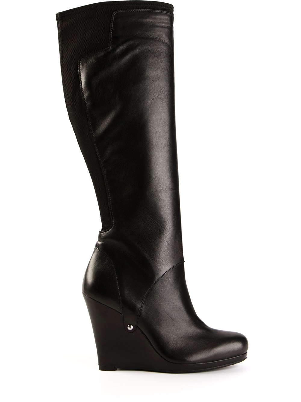 black wedge boots gallery ATHOZQF