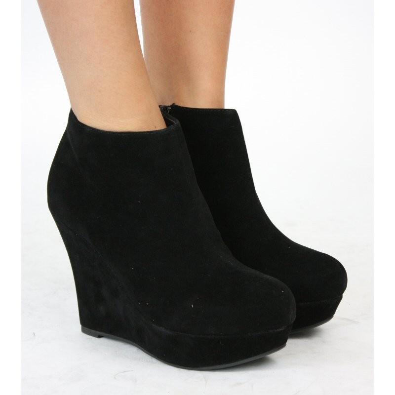 black wedge boots IIHNSEF