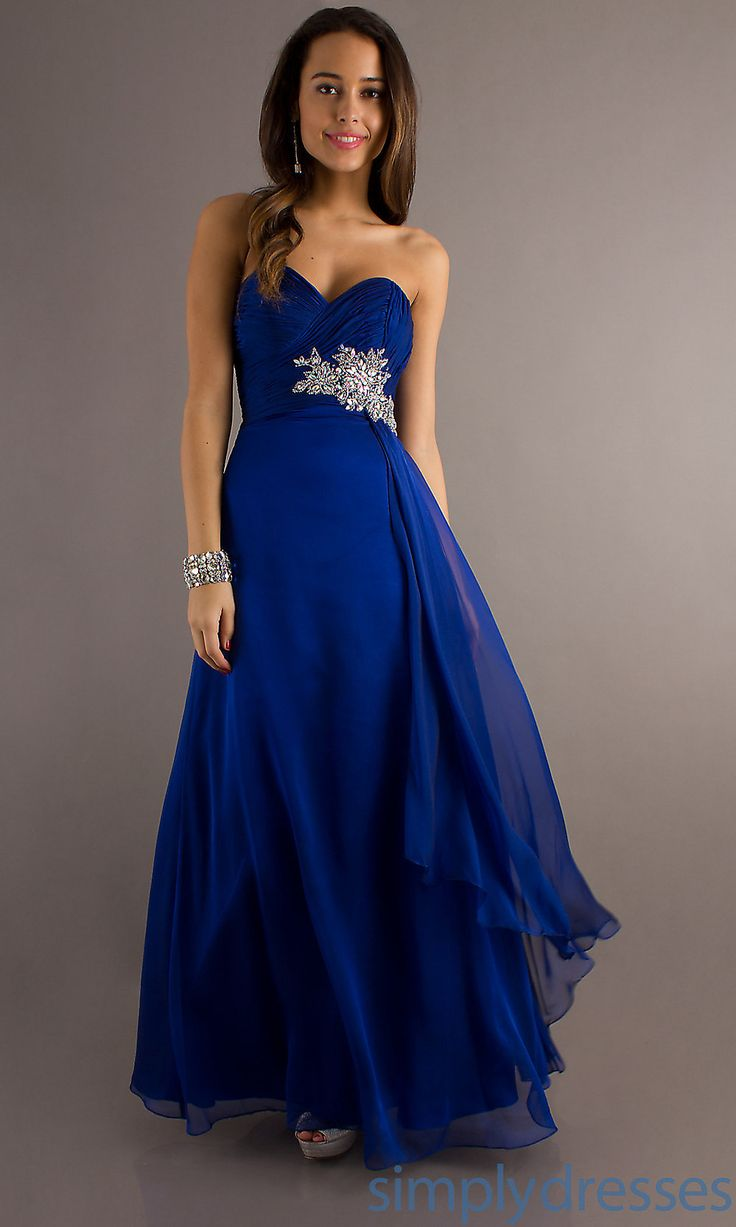 blue bridesmaid dresses dresses, formal, prom dresses, evening wear: temptation floor length  strapless sweetheart dress. royal blue DIICDWA