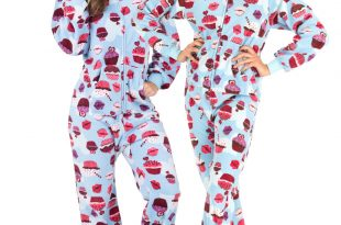 blue cupcakes hooded footed pajamas SBDOVDQ