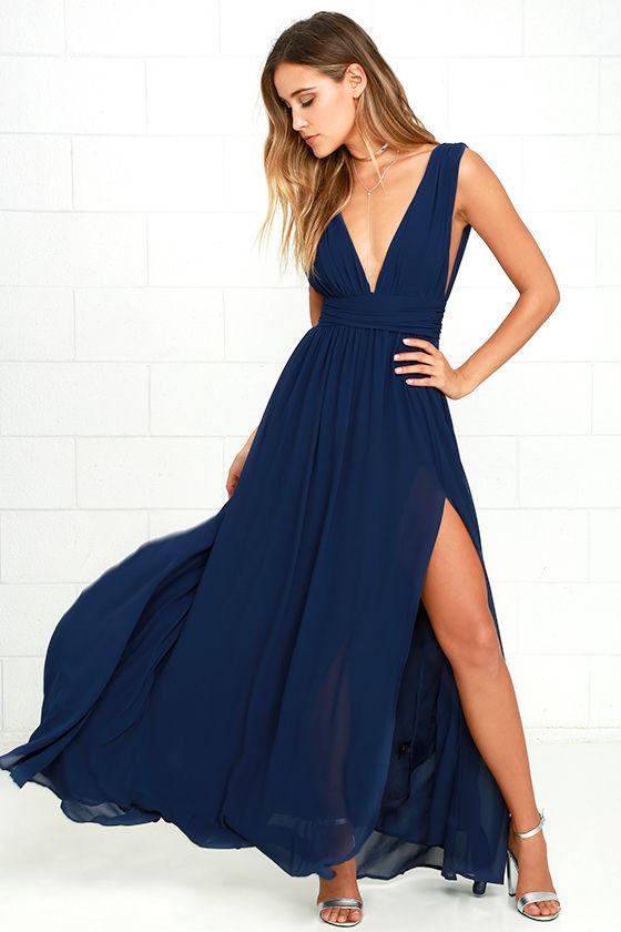 blue dress lulus. heavenly hues navy blue maxi dress QYQTHRU
