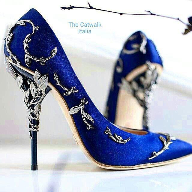 blue heels @ralphandrusso high heels HCAXCAB