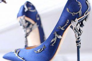 blue shoes u0027edenu0027 pumps in midnight blue aw15/16 pre-order at harrodu0027s bourique EWKSZKO