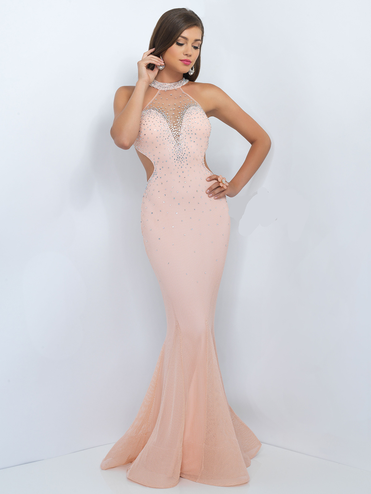 blush prom dresses zoom MUEWPGD
