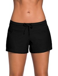 board shorts for women papaya wear womenu0027s solid boardshorts beach short swim brief with  adjustable ties FPBILUC