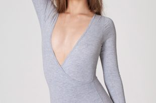 bodysuits for women cotton spandex cross v bodysuit EVNXARH
