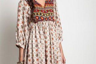 bohemian clothing boho baby doll dress taupe VPGTVFI