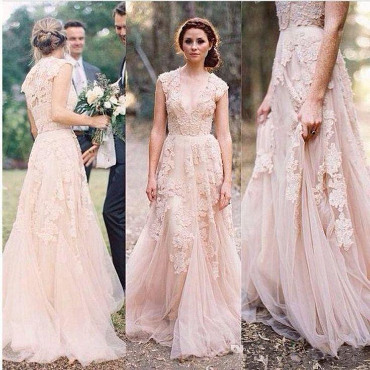 bohemian wedding dress boho wedding lace dress boho bridesmaid dresses DSUELDE