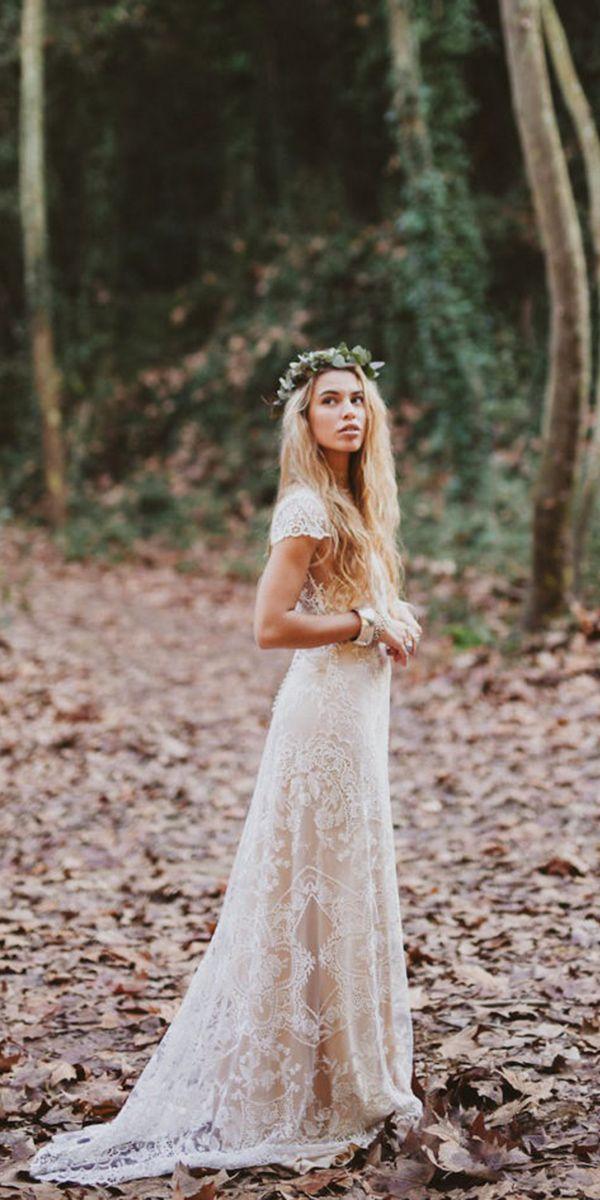 bohemian wedding dress lace boho bridal gowns 1 UNMVQLP