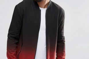 bomber jacket men image 1 of religion dip dye sweat bomber jacket IXCXUSL