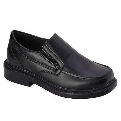 bonafini boys k-106 black slip on formal dress school church shoes TUKMNFN