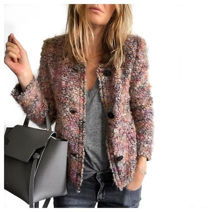 The versatile looking boucle jacket