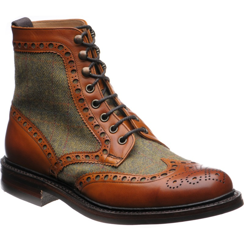 brogue boots herring exmoor tweed brogue boot uk JNBZPPA